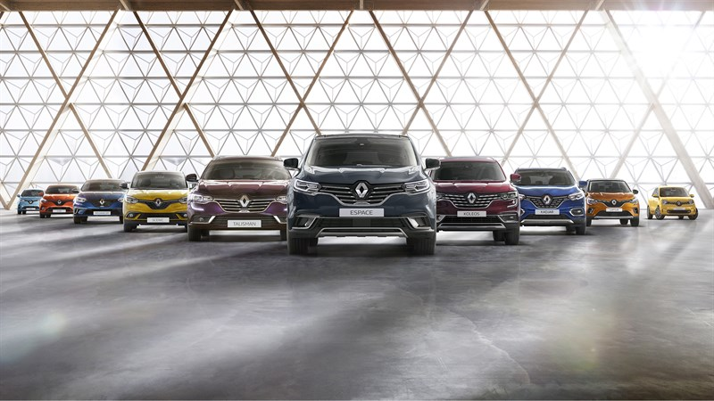 Showcasing Renault cars in one picture